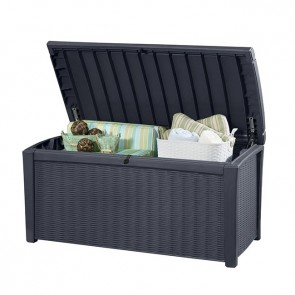 Keter 400L Borneo Storage Box - Charcoal