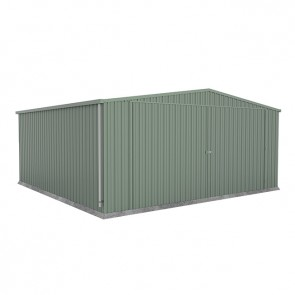 ECO Double Garage with Double Barn Doors - 5.6m x 5.5m - Green