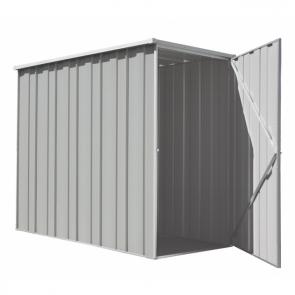 YardSaver Shed F36 - Slimline Flat Roof Side Entry - 2.105m x 1.07m - Zinc