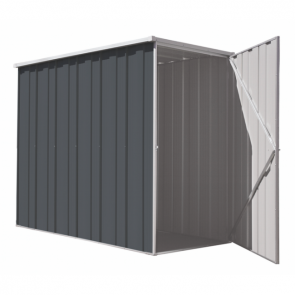 YardSaver Shed F36 - Slimline Flat Roof Side Entry - 2.105m x 1.07m - Colour