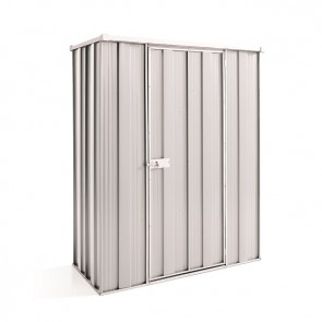 YardSaver Shed F42 - Single Door Flat Roof - 1.41m x 0.72m - Zinc