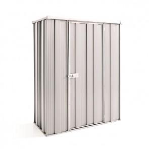 YardSaver Shed F52- Single Door Flat Roof - 1.76m x 0.72m - Zinc