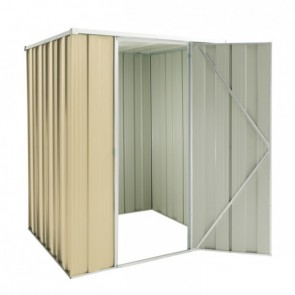 YardSaver Shed F44 - Single Door Flat Roof - 1.41m x 1.41m - Colour