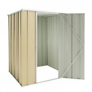 YardSaver Shed F44 - Single Door Flat Roof - 1.41m x 1.41m - Colour