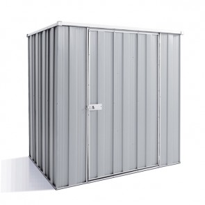 YardSaver Shed F54 - Single Door Flat Roof - 1.76m x 1.41m - Zinc