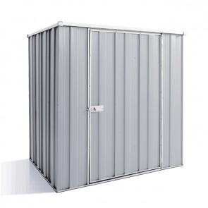 YardSaver Shed F54 - Single Door Flat Roof - 1.76m x 1.41m - Zinc