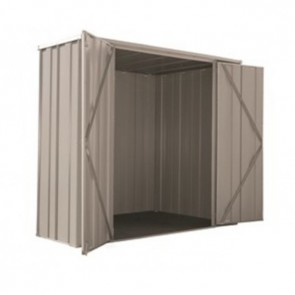 YardSaver Shed F62 - Double Door Flat Roof - 2.105m x 0.72m - Zinc