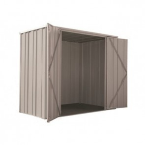 YardSaver Shed F63 - Double Door Flat Roof - 2.105m x 1.07m - Zinc