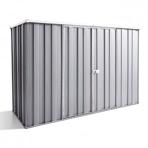 YardSaver Shed F83 - Double Door Flat Roof - 2.8m x 1.07m - Zinc