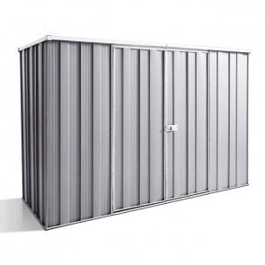 YardSaver Shed F83 - Double Door Flat Roof - 2.8m x 1.07m - Zinc