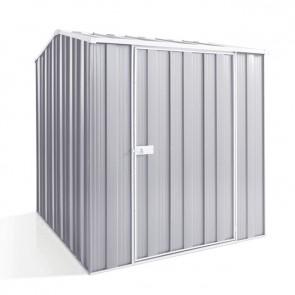 YardSaver Shed G56 - Single Door Gable Roof - 1.76m x 2.1m - Zinc