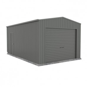 Single Garage with Roller Door 3.7m x 6m x 2.7m Colorbond Woodland Grey