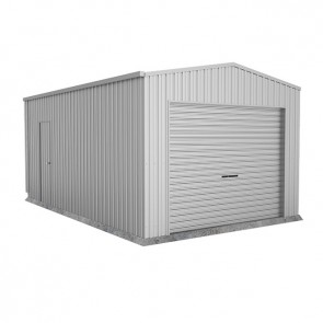 Single Garage with Roller Door 3.7m x 6m x 2.7m Zincalume