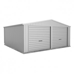 Double Garage with Twin Roller Doors - 6m x 6m x 2.5m Zincalume
