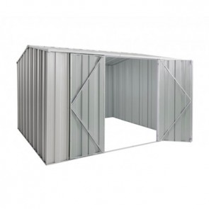 YardSaver Shed G98 - Double Door Gable Roof - 3.145m x 2.8m - Zinc