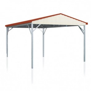 YardPro Carport Single - Gable Roof - 3.9m x 5.9m x 2.4m - W41 - N3 - Colour