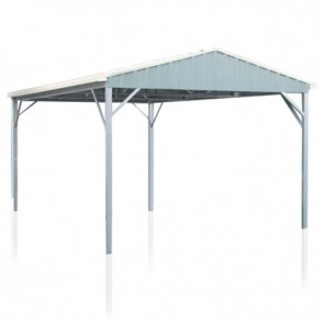 YardPro Carport Single - Gable Roof - 3.9m x 5.9m x 2.4m - W41 - N3 - Zinc