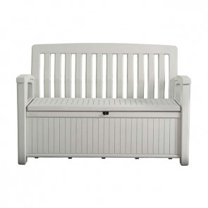 Keter 227L Patio Storage Bench - White (Storage)