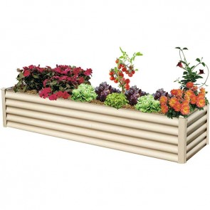 Hexies Raised Garden Bed - Rectangle - 200cm x 55cm - Paperbark