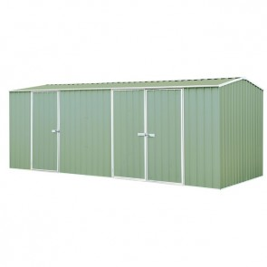 ECO-NOMY Shed - Triple Door - 5.22m x 2.26m Green