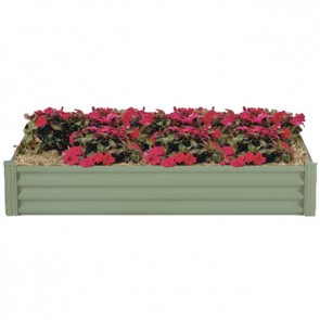 Hexies Raised Garden Bed - Rectangle - 200cm x 130cm - Pale Eucalypt