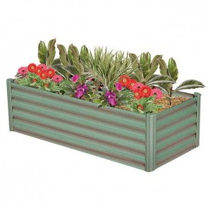 Hexies Raised Garden Bed - Rectangle - Pale Eucalypt