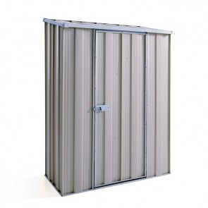 YardSaver Shed S42 - Single Door Skillion Roof - 1.41m x 0.72m - Zinc