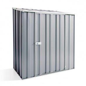 YardSaver Shed S53 - Single Door Skillion Roof - 1.76m x 1.07m - Zinc