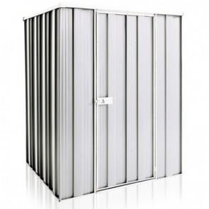 YardSaver Shed F44 - Single Door Flat Roof - 1.41m x 1.41m - Zinc