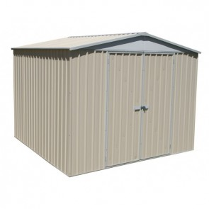Highlander Garden Shed - Double Door 3m x 2.92m Colorbond Classic Cream