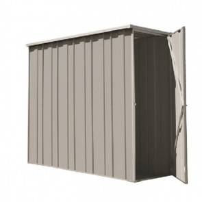 YardSaver Shed F26 - Slimline Flat Roof Side Entry - 2.105m x 0.72m - Zinc