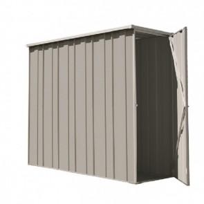 YardSaver Shed F26 - Slimline Flat Roof Side Entry - 2.105m x 0.72m - Zinc