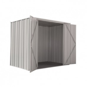 YardSaver Shed F64 - Double Door Flat Roof - 2.105m x 1.41m - Zinc
