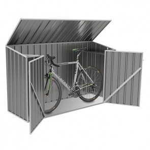Bike Shed - 2.26m x 0.78m x 1.31m grey open