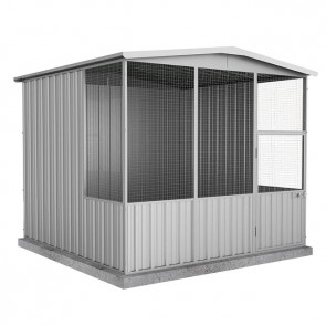 Aviary Gable Roof 2.26m x 2.22m x 2m Zincalume