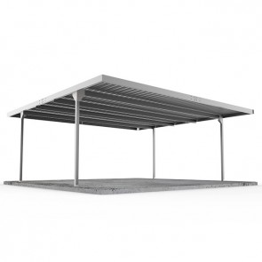 Double Carport Skillion Roof 5.5m x 5.5m Zincalume