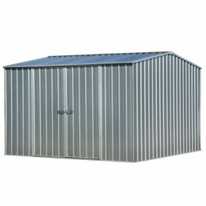 ECO Gable Roof 3m x 3m x 2.06m Double Door Shed - Zinc