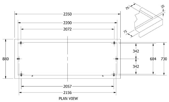 concrete slab sizing